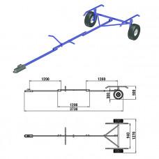 Трейлер для транспортировки НЛ длиной до 3,8 м.