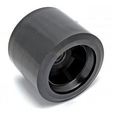 Ролик подкильный  80мм, черный пластик