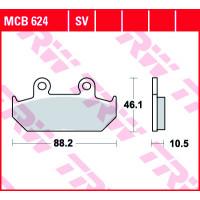 Колодки тормозные (серия Organic Allround) MCB624