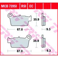 Колодки тормозные (серия Sinter Offroad) MCB739SI