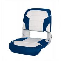 Сиденье пластмассовое All Weather High Back Seat, бело-синее
