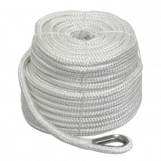 Плетеный якорный трос 16мм*45м белый
