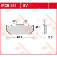 Колодки тормозные (серия Sinter Street SV) MCB624SV
