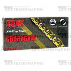 Цепь для мотоцикла до 1400 см³ (золотая, с сальниками XW-RING) GB530GXW-114
