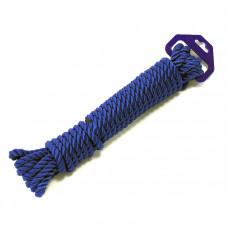 Трос швартовый трех прядный 12мм*9м темно-синий