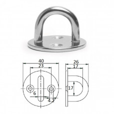 Планка круглая с обухом 6х40мм