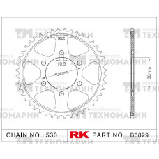 Звезда для мотоцикла ведомая B6829-44