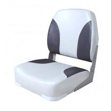 Сиденье мягкое складное Classic Low Back Seat, серо-чёрное