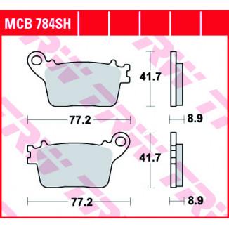 Колодки тормозные (серия Sinter Street SH) MCB784SH
