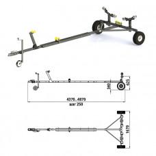 Трейлер для транспортировки легких катеров (чер.мет.)