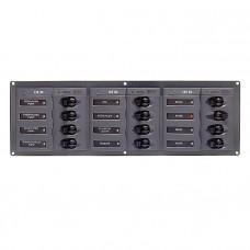 Панель переключателей 12шт с предохранителями постоянного тока горизонтальная