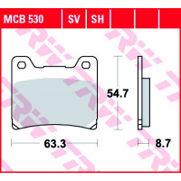 Колодки тормозные (серия Organic Allround) MCB530