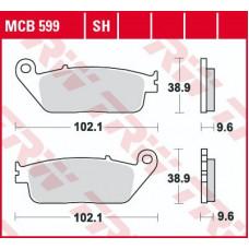 Колодки тормозные (серия Organic Allround) MCB599