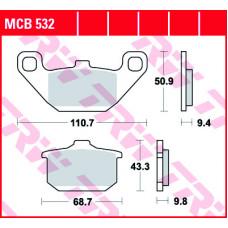 Колодки тормозные (серия Organic Allround) MCB532