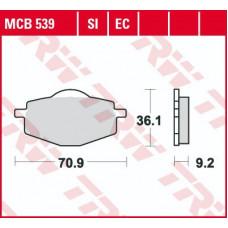 Колодки тормозные (серия Organic Allround) MCB539