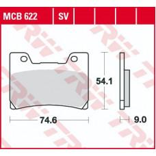 Колодки тормозные (серия Organic Allround) MCB622