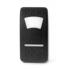 Клавиша переключателя пластиковая черная
