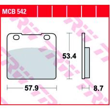 Колодки тормозные (серия Organic Allround) MCB542