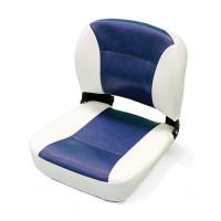 Сиденье мягкое раскладное 400х420 мм, бело-синее