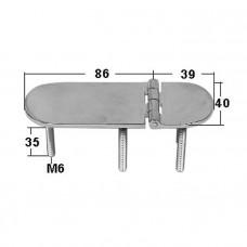 Петля неразъемная 125х40х4 мм М6х3