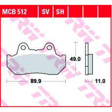 Колодки тормозные (серия Organic Allround) MCB512