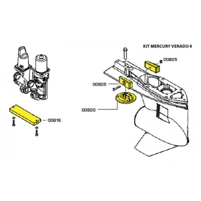 цинковый анод на лодочном моторе