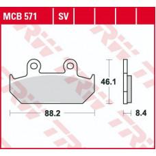 Колодки тормозные (серия Organic Allround) MCB571