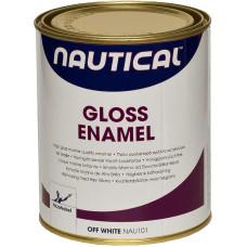 Эмаль глянцевая грязно-белая 0,75 л