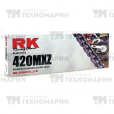 Цепь для мотоцикла до 150 см³ (без сальников) 420MXZ-130