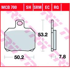 Колодки тормозные (серия  Organic Allround) MCB700
