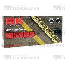 Цепь для мотоцикла до 1200 см³ (золотая, с сальниками XW-RING) GB520GXW-120