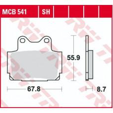 Колодки тормозные (серия Organic Allround) MCB541