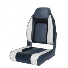 Сиденье мягкое складное Premium Designer High Back Seat, серо-чёрное