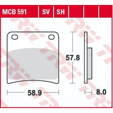 Колодки тормозные (серия Organic Allround) MCB591