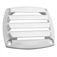 Крышка вентиляции пластмассовая квадратная 127х127мм, белая