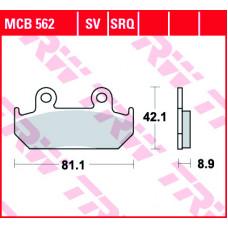 Колодки тормозные (серия Organic Allround) MCB562