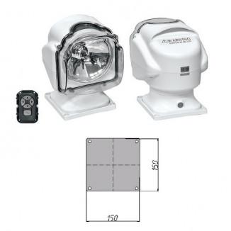Прожектор стационарный галогеновый проводной пульт ДУ, серия 971, белый