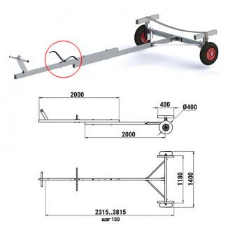 Трейлер для транспортировки НЛ и РИБ (АМГ5) (Уц)