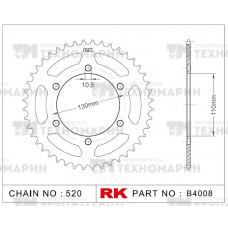 Звезда для мотоцикла ведомая B4008-42