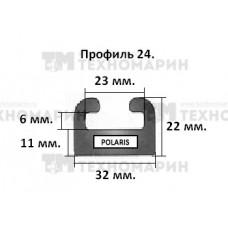 Склиз Polaris (черный) 24 профиль 24-64.00-1-01-01