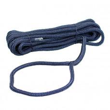 Плетеный швартовый трос 10мм*10м тёмно-синий