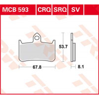 Колодки тормозные (серия Sinter Street SV) MCB593SV