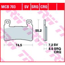 Колодки тормозные (серия  Organic Allround) MCB703