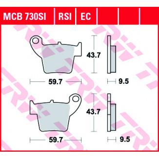 Колодки тормозные (серия Sinter Offroad) MCB730SI