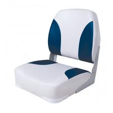 Сиденье мягкое складное Classic Low Back Seat, серо-синее