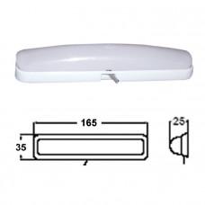 Светильник интерьерный накладной 165х35 мм, пластмасса