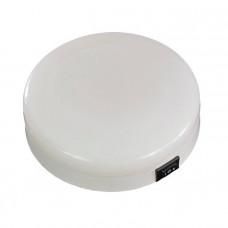 Светильник интерьерный диаметр 125мм, бело/красный, пластик.корпус