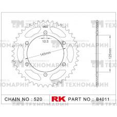 Звезда для мотоцикла ведомая B4011-46