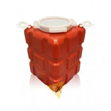 Емкость 25л красная (широкая горловина) EB-0251-R
