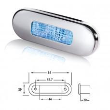 Светильник для подсветки палуб и трапов светодиодный 84х29 мм, синий свет
